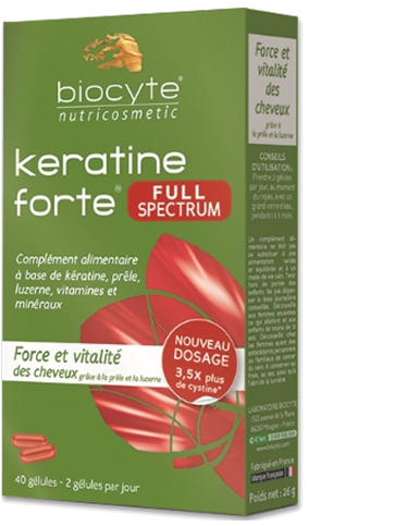 Keratine Forte® Full Spectrum - gegen Haarausfall bei Frauen